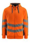 50138-932-1418 Hættetrøje med lynlås - hi-vis orange/mørk antracit