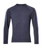 50204-830-66 Sweatshirt - vasket mørkeblå denim