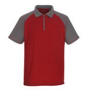 50302-260-02888 Poloshirt med brystlomme - rød/antracit