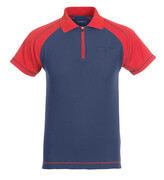 50302-260-12 Poloshirt med brystlomme - marine/rød