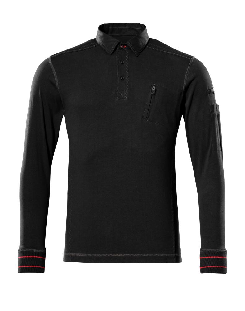 50352-833-09 Polosweatshirt - sort