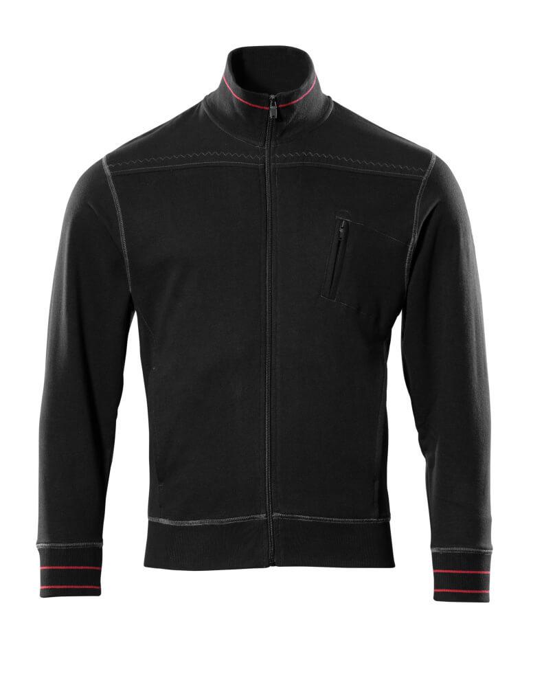 50353-834-09 Sweatshirt med lynlås - sort
