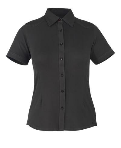 50374-863-09 Skjorte, kortærmet - sort