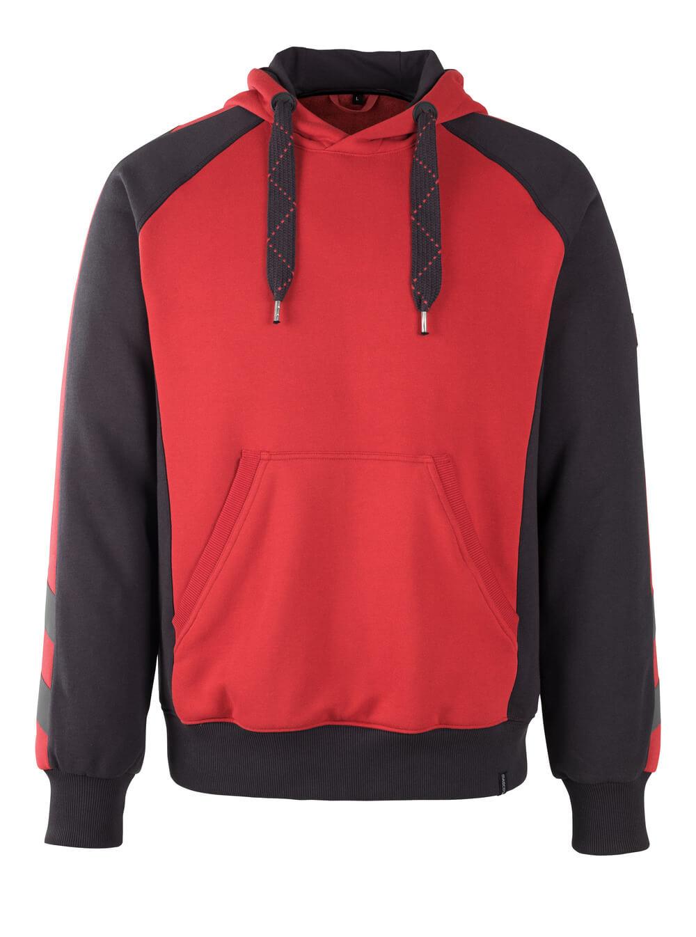 50508-811-0209 Hættetrøje - rød/sort