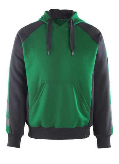 50508-811-0309 Hættetrøje - grøn/sort