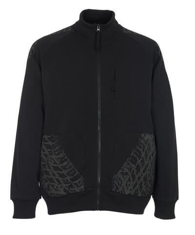 50549-830-09 Sweatshirt med lynlås - sort