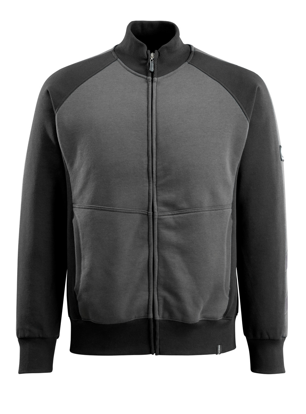 50565-963-1809 Sweatshirt med lynlås - mørk antracit/sort