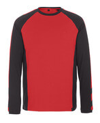 50568-959-0209 T-shirt, langærmet - rød/sort