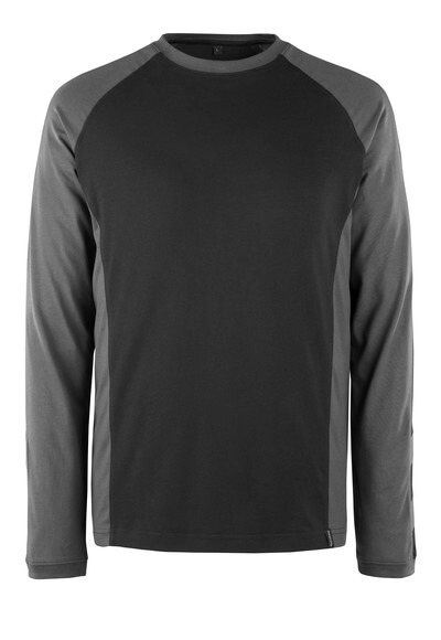 50568-959-1809 T-shirt, langærmet - mørk antracit/sort