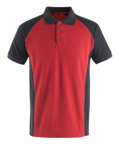 50569-961-0209 Poloshirt - rød/sort