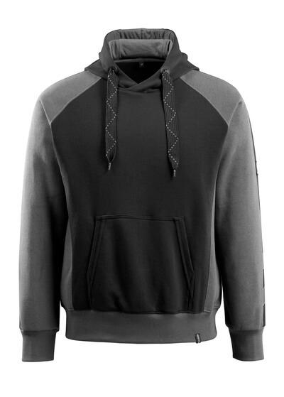 50572-963-0918 Hættetrøje - sort/mørk antracit