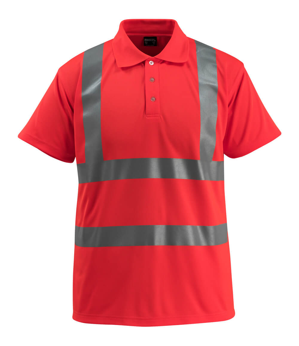 50593-976-222 Poloshirt - hi-vis rød