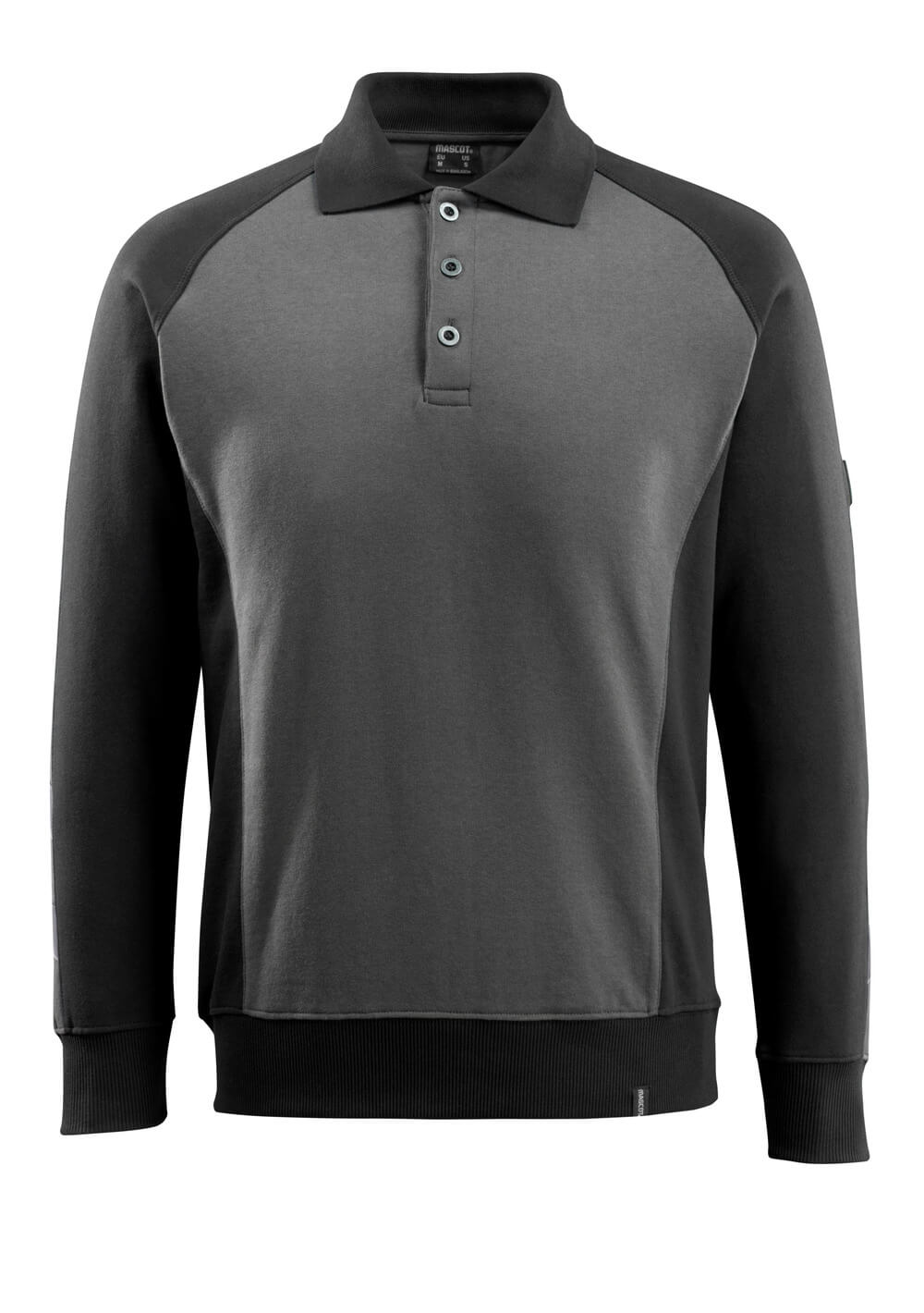 50610-962-1809 Polosweatshirt - mørk antracit/sort