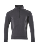 50611-971-010 Sweatshirt med kort lynlås - mørk marine