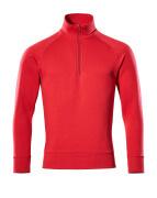 50611-971-02 Sweatshirt med kort lynlås - rød