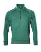 50611-971-03 Sweatshirt med kort lynlås - grøn