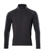 50611-971-09 Sweatshirt med kort lynlås - sort