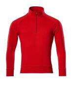 50611-971-202 Sweatshirt med kort lynlås - signalrød