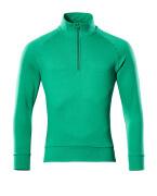 50611-971-333 Sweatshirt med kort lynlås - græsgrøn