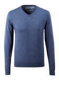 50635-989-41 Striktrøje - blå-meleret