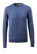 50636-989-41 Striktrøje - blå-meleret