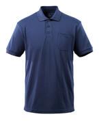 51586-968-01 Poloshirt med brystlomme - marine