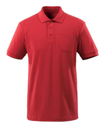 51586-968-010 Poloshirt med brystlomme - mørk marine
