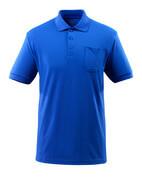 51586-968-11 Poloshirt med brystlomme - kobolt