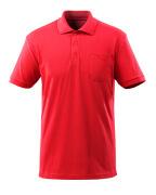 51586-968-202 Poloshirt med brystlomme - signalrød