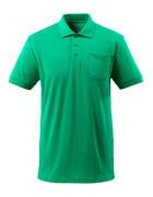 51586-968-333 Poloshirt med brystlomme - græsgrøn