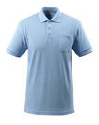 51586-968-71 Poloshirt med brystlomme - lys blå