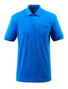 51586-968-91 Poloshirt med brystlomme - azurblå