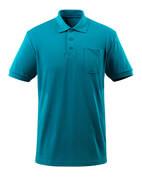 51586-968-93 Poloshirt med brystlomme - petroleum