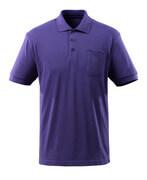51586-968-95 Poloshirt med brystlomme - blå violet