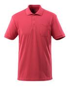 51586-968-96 Poloshirt med brystlomme - hindbærrød
