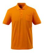 51586-968-98 Poloshirt med brystlomme - stærk orange