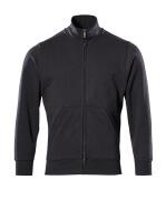 51591-970-09 Sweatshirt med lynlås - sort