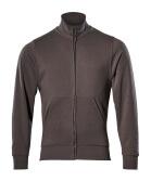 51591-970-18 Sweatshirt med lynlås - mørk antracit