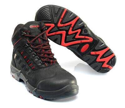 F0025-901-0902 Sikkerhedsstøvle - sort/rød