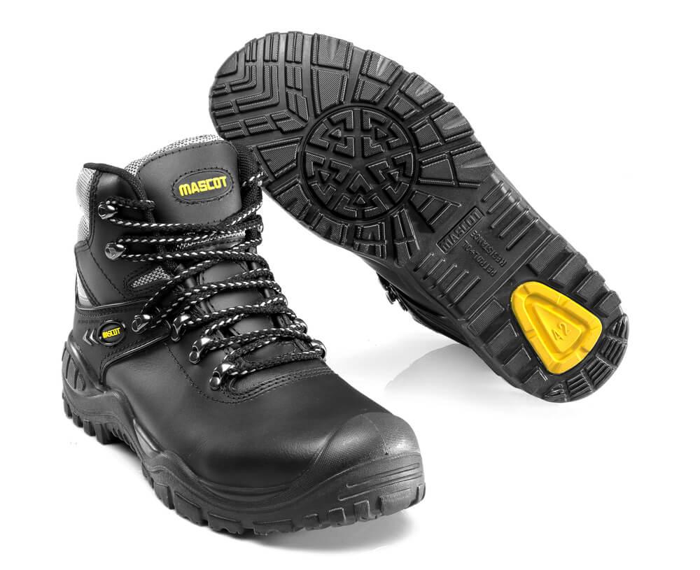 F0074-902-0907 Sikkerhedsstøvle - sort/gul