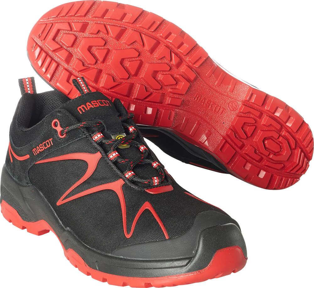F0121-770-0902 Sikkerhedssko - sort/rød