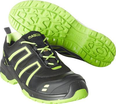 F0124-773-0917 Sikkerhedssko - sort/limegrøn