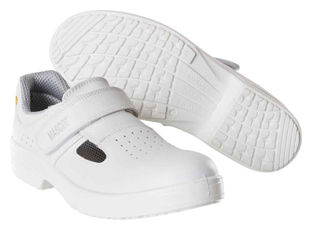 F0801-906-06 Sikkerhedssandaler - hvid