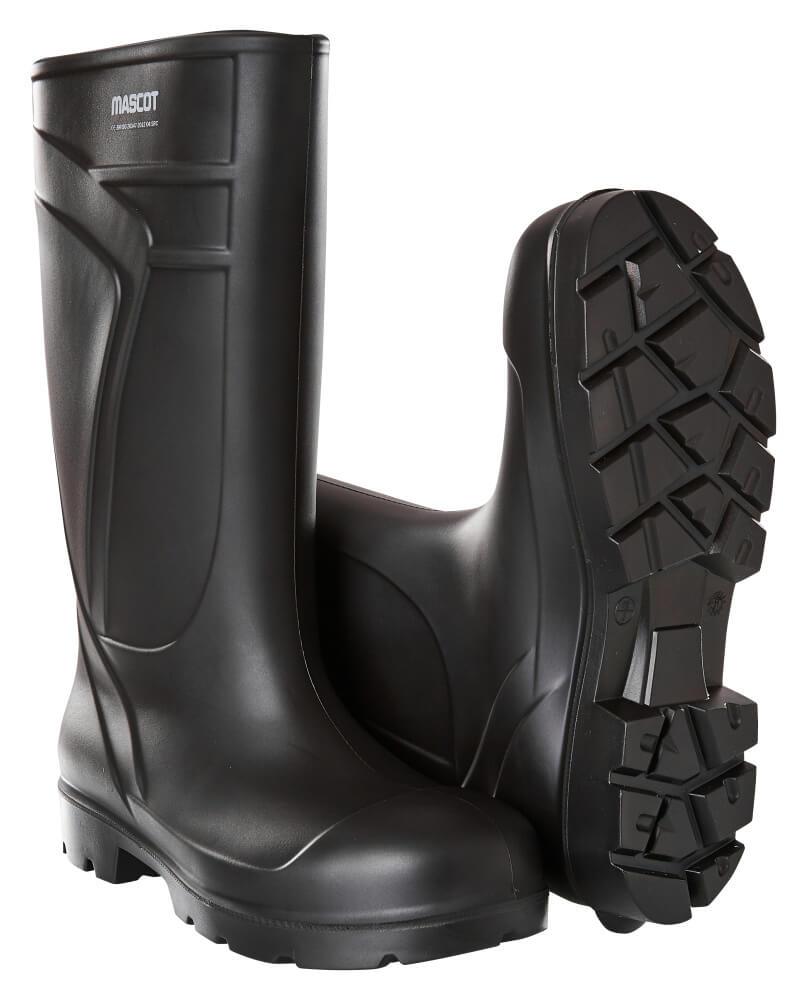 F0852-703-09 PU-sikkerhedsstøvler - sort