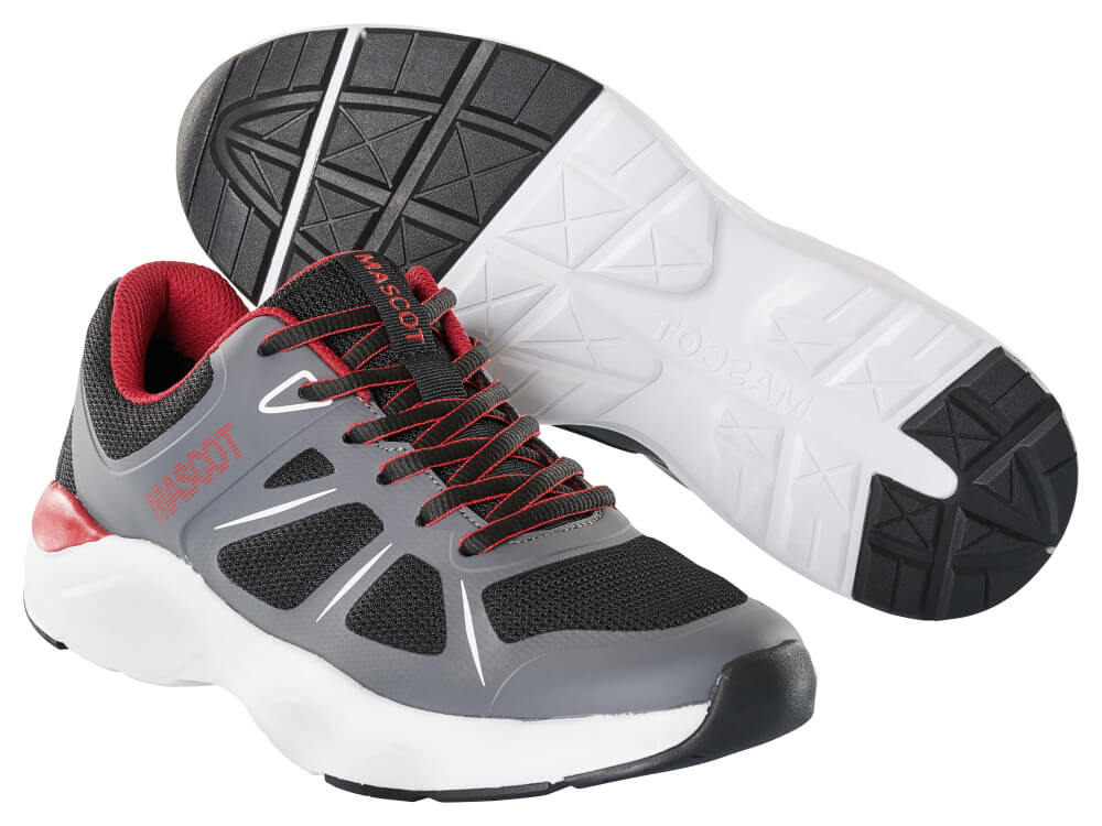 F0950-909-A84 Sneakers - sort/mørk antracit/rød